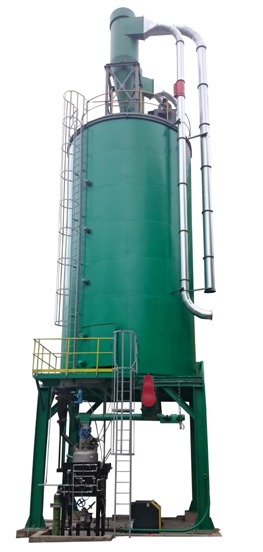 Silo 200 m3 cylindrical undrpassing