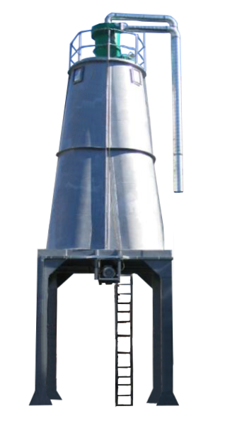 Silo cylindrical undrpassing