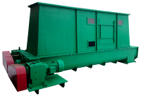 Worm bottom discharger