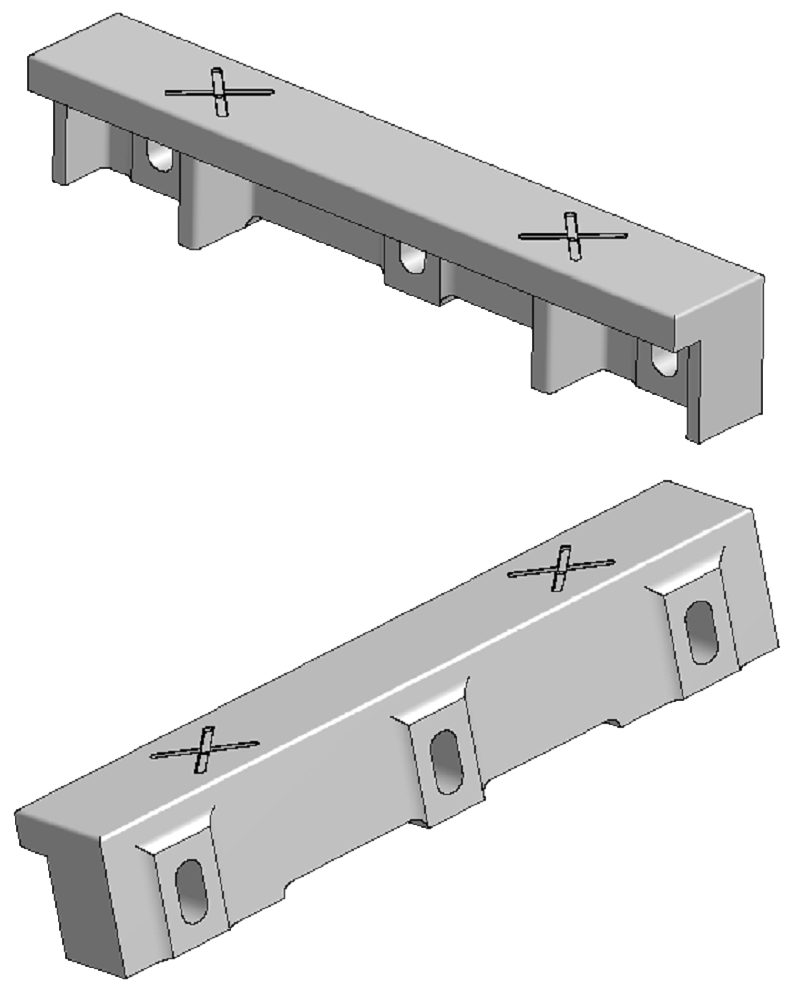 Flat guide into frame saw