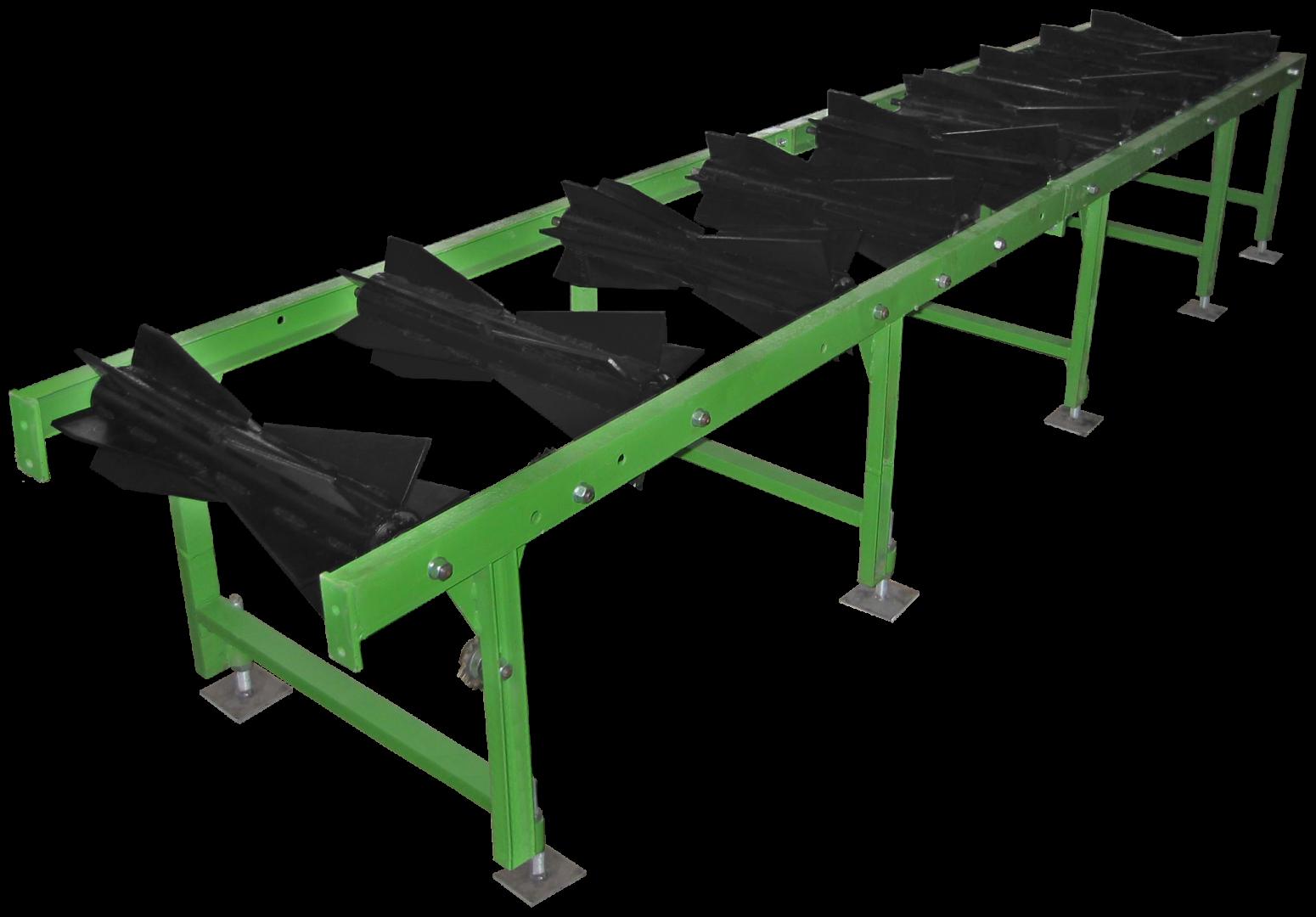 Centering conveyor pre-splitting automatic machine