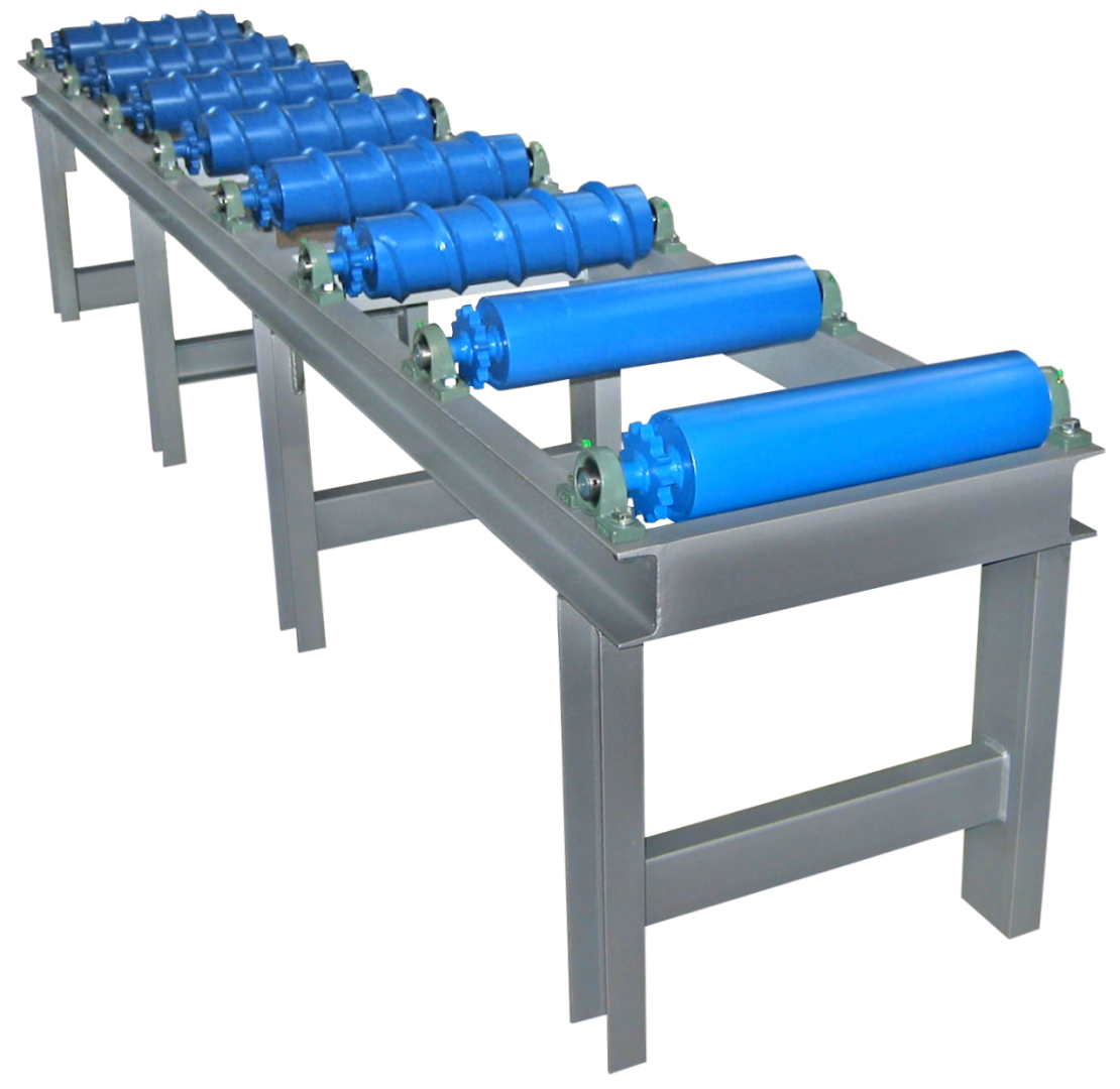 Worm roller conveyor