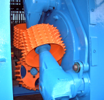 Log debarker machines